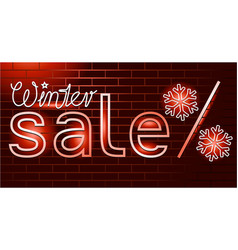 winter sale background vector image