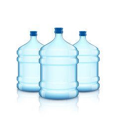 Big bottle with clean water plastic container for vector