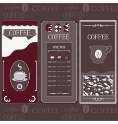 Coffee templates brown colore vector image vector image
