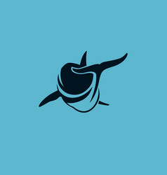 dolphin swim avay logo sign vector image