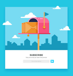 email subscribe online newsletter template vector image
