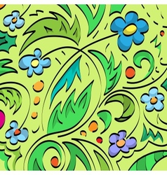 Floral brush background vector image