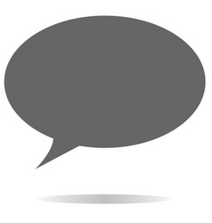 gray speech bubble icon on white background vector image