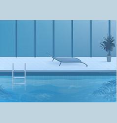 Public swimming pool inside interior vector