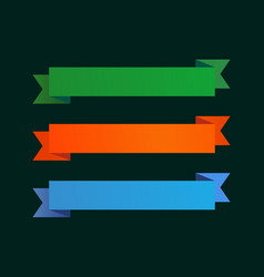 Set of ribbons with copy space vector