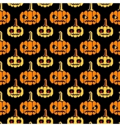 Halloween straight lines pattern with pumpkins vector image vector image