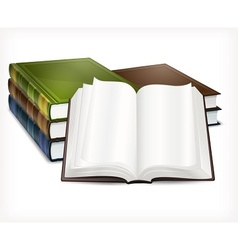 New books open on white vector image vector image