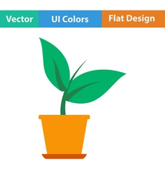 Plant in flower pot icon vector image