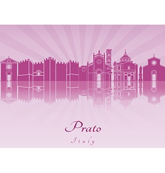 Prato skyline in purple radiant orchid vector image vector image