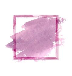 purple pink watercolor grunge frame vector image vector image