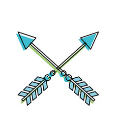 rustic arrows with ornamental design vector image vector image