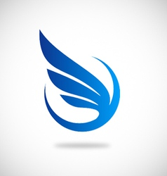 Wing fly abstract logo vector