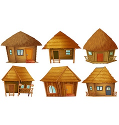 Cottage set vector image vector image