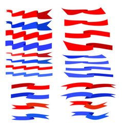 flat ribbon color set vector image