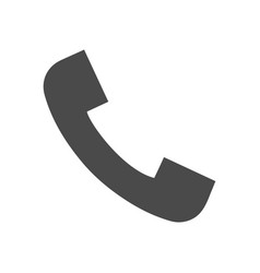 Phone call solid icon vector