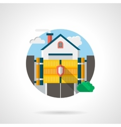 Private residence secure color detail icon vector image