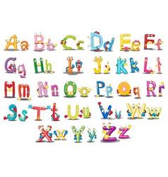 Alphabet characters vector