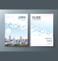 annual report brochure flyer design leaflet vector image vector image