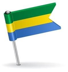 Gabon pin icon flag vector image