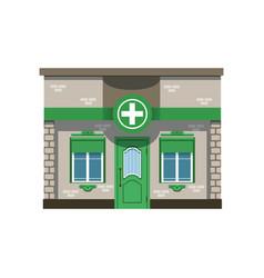 pharmacy drugstore building facade vector image