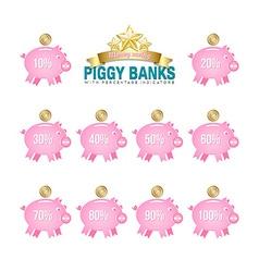 Piggy bank icons vector