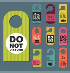 Please do not disturb hotel door quiet motel vector