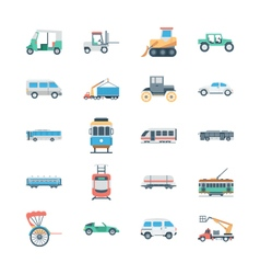 Transports Colored Icons 3 vector image