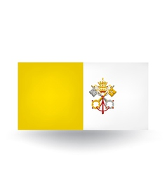 Vatican City Flag vector image