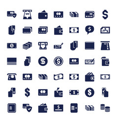 49 payment icons vector