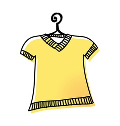 A shirt is on the rack vector