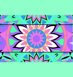 Abstract background of stained glass mandalas vector