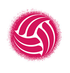 abstract volleyball grunge halftone symbol vector image