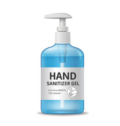 Alcohol sanitizer gel bottle hand wash design vector