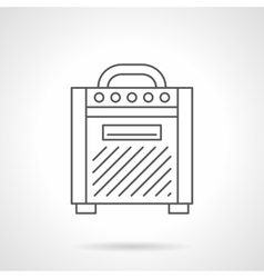 Amplifier for guitar flat line icon vector