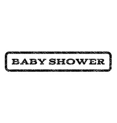 Baby shower watermark stamp vector