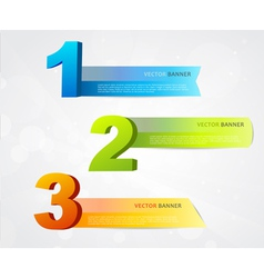 Banners with numbers vector image