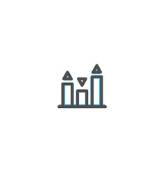 bar graph icon line design e commerce icon vector image