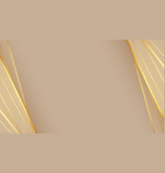 beautiful empty background with golden lines vector image