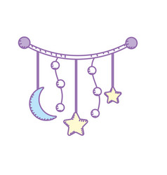 beauty skydream that used to sleep the baby vector image