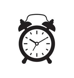 black alarm clock icon isolated on white vector image