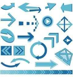 blue arrows sign vector image vector image