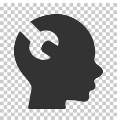 Brain Wrench Tool Icon vector image vector image