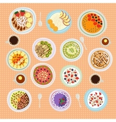 Breakfast cereal porridge vector