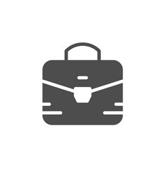 briefcase or business bag glyph icon vector image