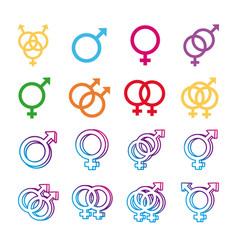 Bundle gender symbols sexual orientation vector