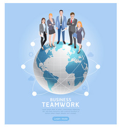 business teamwork concepts businessman and vector image