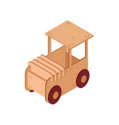cardboard car icon vector image