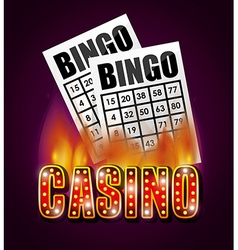 Casino games design vector