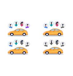 Completeness car passengers vector