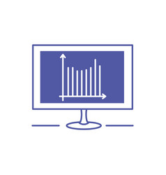 Computer monitor with statistical graphics vector